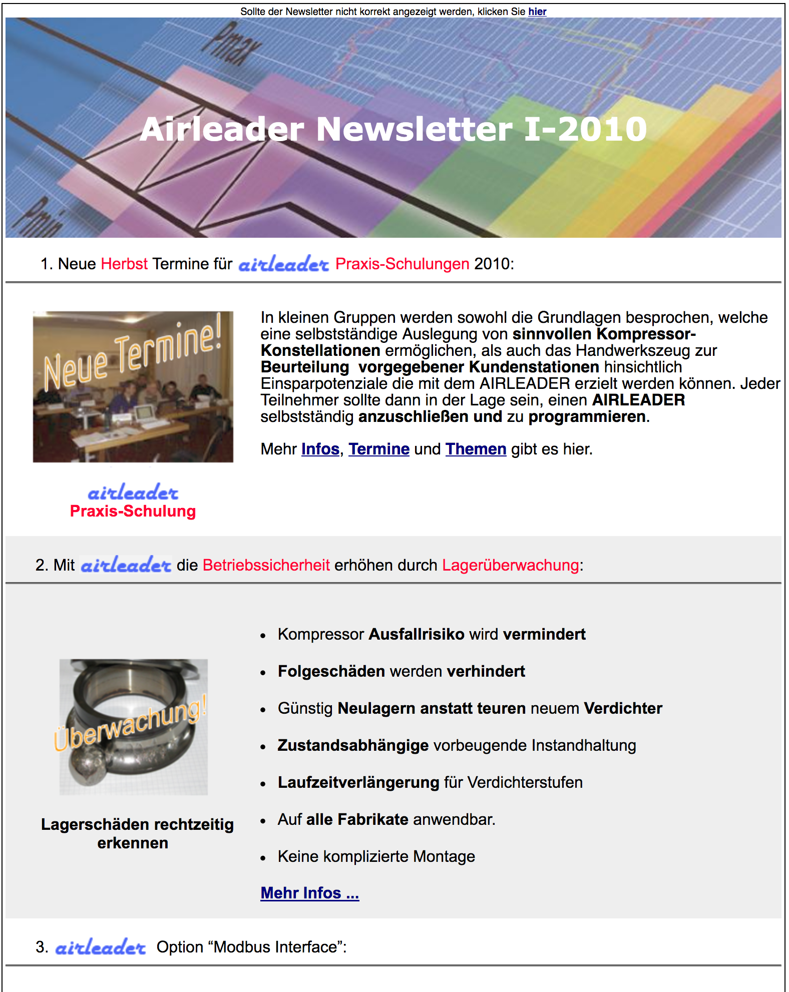 Airl Newsletter I 2010