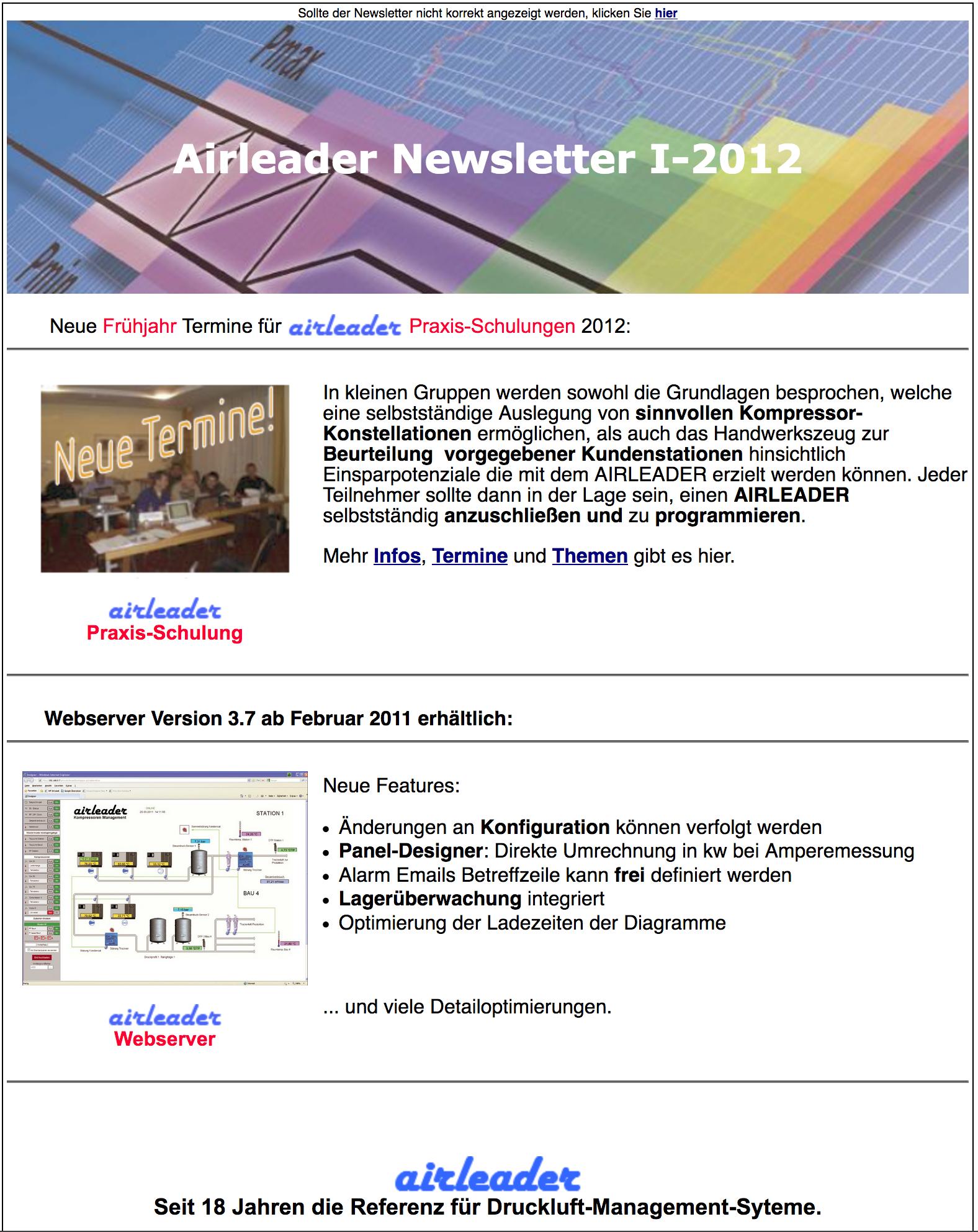 Airl Newsletter I 2012